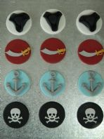 12 Pirate Theme Cupcake Toppers